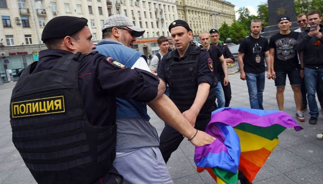 LGBT rights advocate Peter Tatchell charged over protest outside Kremlin