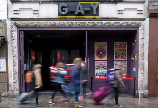 G-A-Y in Soho in central London.