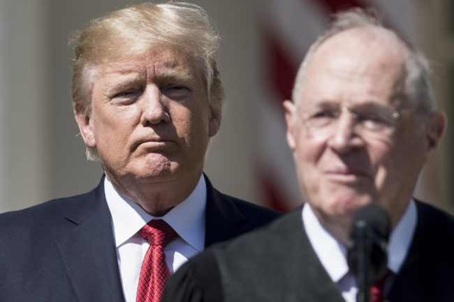 Donald Trump with Justice Kennedy