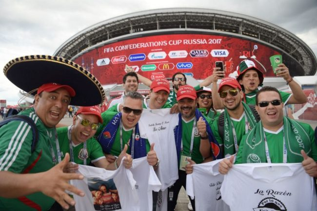 Mexico fans at the Confederations Cup