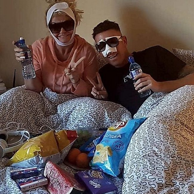 Christopher Maloney and Daniella Westbrook in bed