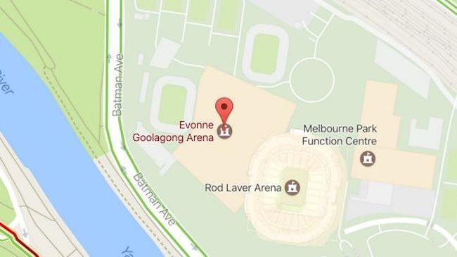 Margaret Court Arena on Google maps
