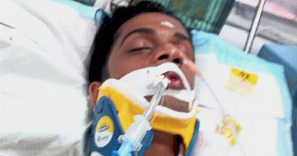 18-year-old T. Nhaveen suffered severe brain damage before he died from the attack