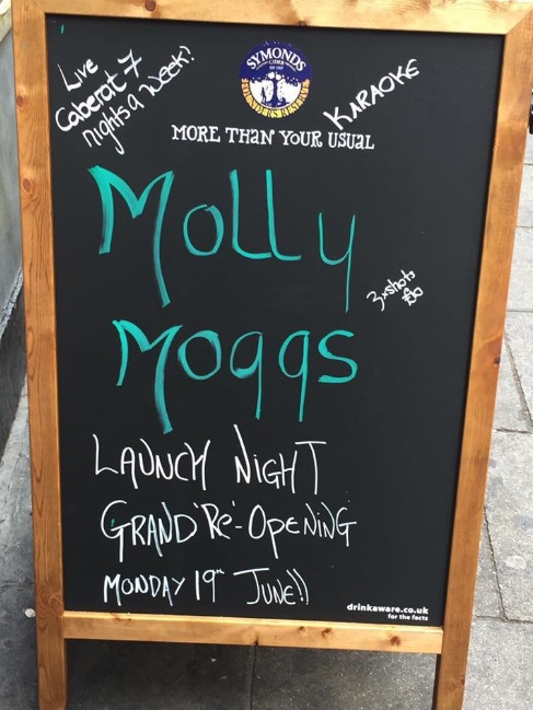 molly Moggs sign