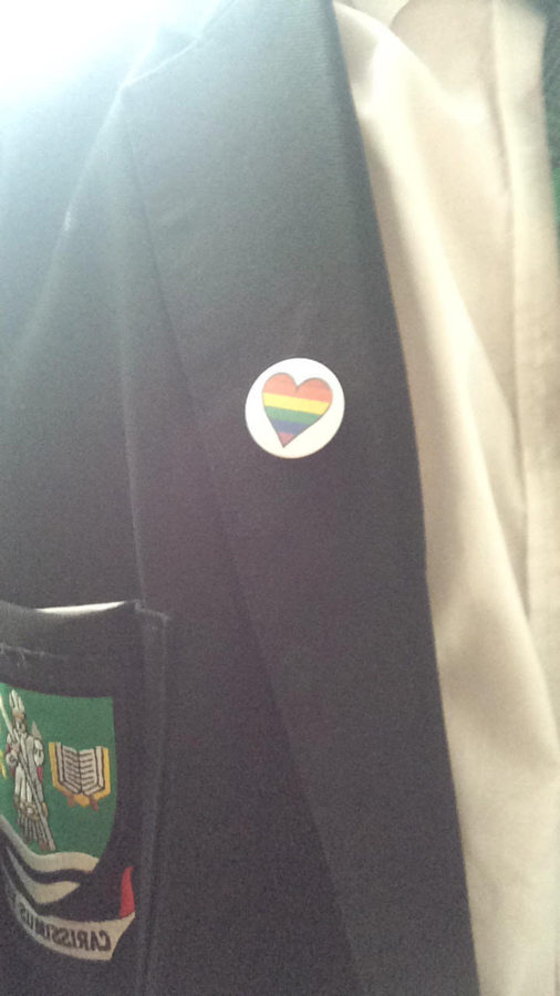 A student at St Kentigern's Academy was told he could not wear the Pride badge because of the messages it promoted