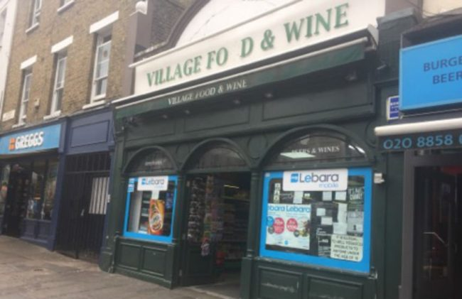 The Greenwich High Street shop where the advert was posted