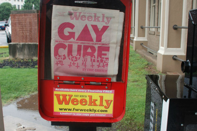 Gay Cure in the (Fort Worth Weekly