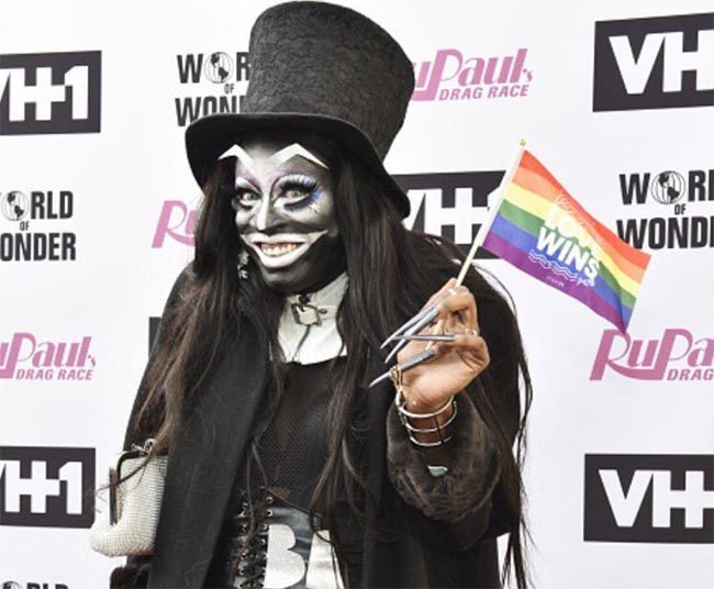 Miles Jai dressed as the babadook