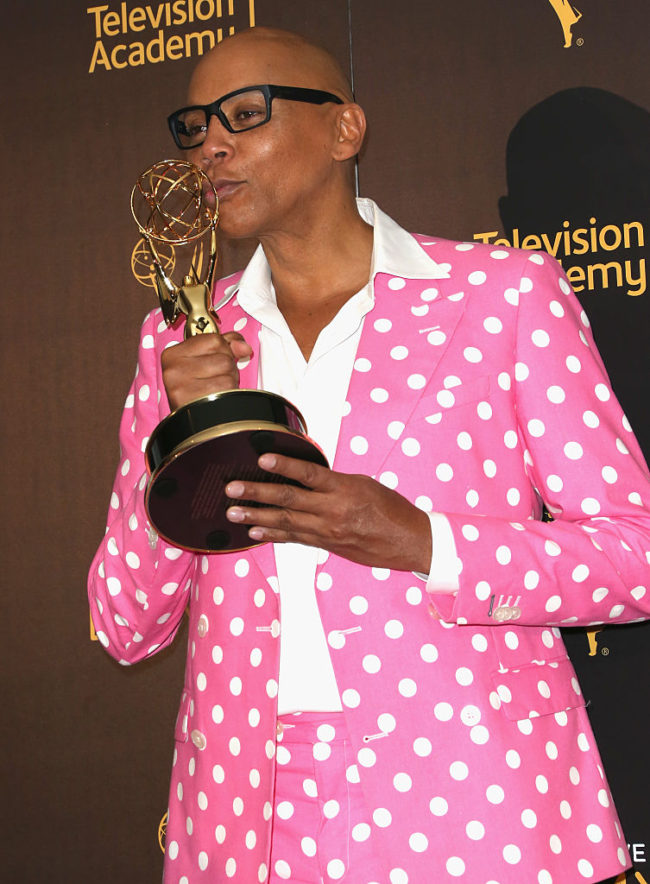 RuPaul Charles poses with his Emmy(Frederick M. Brown/GettyImages