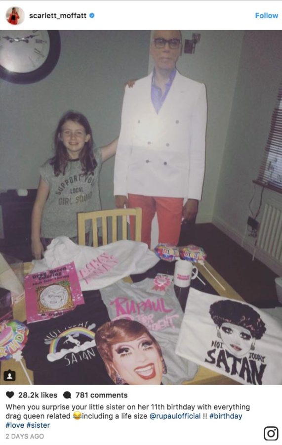 Scarlett Moffatt gifted her younger sister Ava with RuPaul's drag race gifts