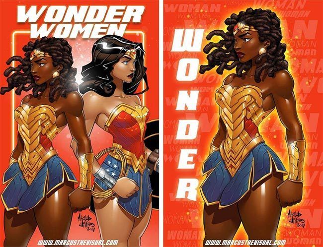 Nubia is Wonder Woman's twin sister