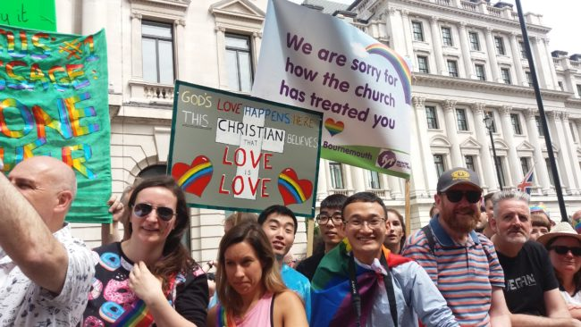 Marchers at Pride in London 2017