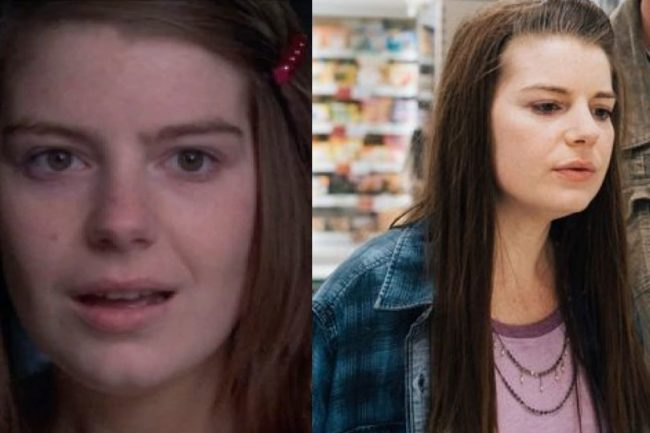 Aimee-Ffion Edwards then and now