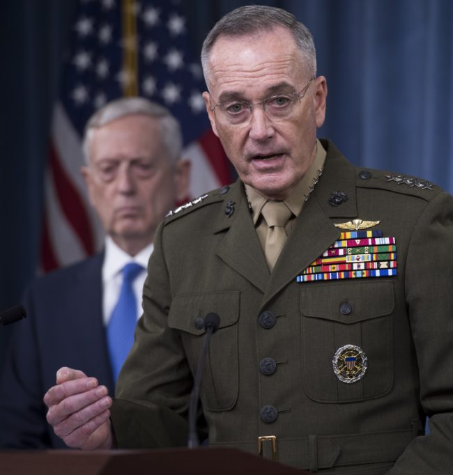 Chairman of the Joint Chiefs of Staff Marine General Joseph Dunford