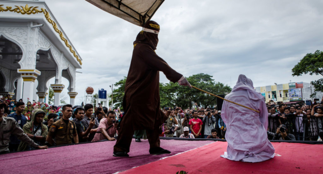 Homosexuality is often punished by caning in Indonesia  (Photo by Ulet Ifansasti/Getty Images)