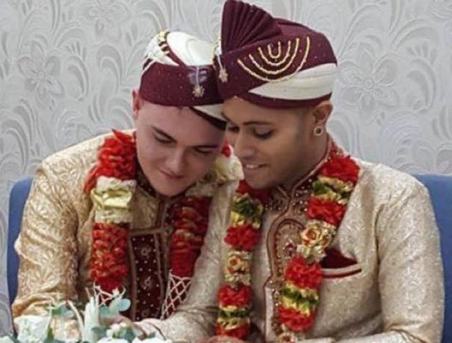 Jahed Choudhury and Sean Rogan wore Islamic dress when they got married earlier this month