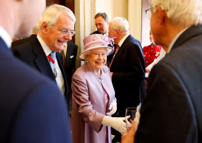 Sir John Major and Queen Elizabeth II
