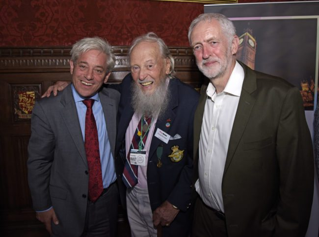 jeremy corbyn with john bercow and george montague