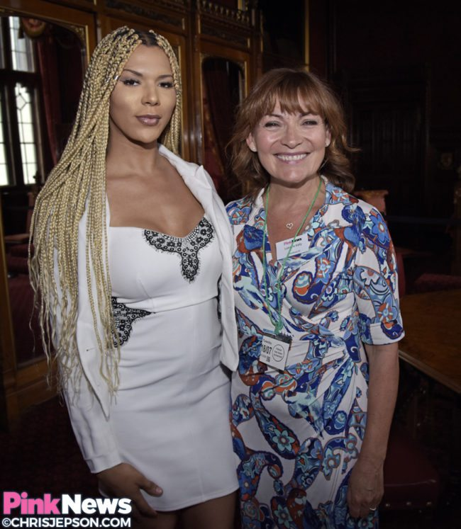 Trans model Munroe Bergdorf with Lorraine Kelly