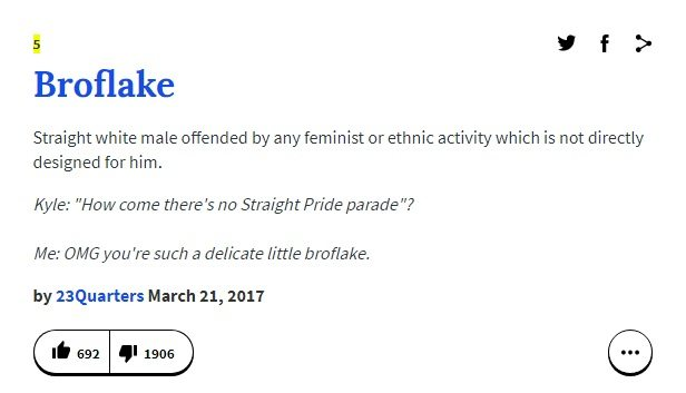 Urban Dictionary defines Broflake