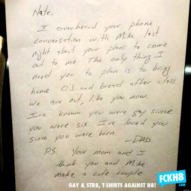 Coming out letter (FCKH8)