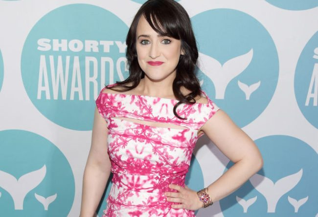 Mara Wilson at an awards ceremony