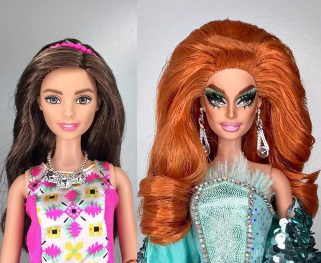 Valentina as a doll