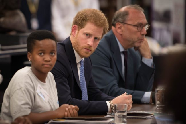 Prince Harry at the discussion at the London School of Hygiene and Tropical Medicine