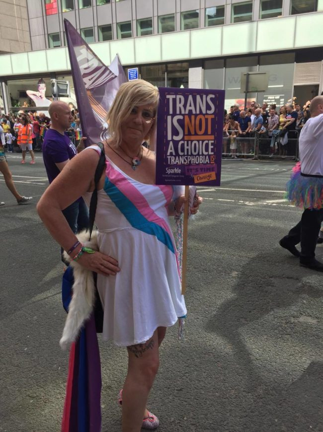 Trans fairy at Manchester Pride