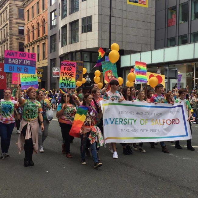 University of Salford at Pride