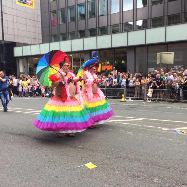 Performers at Manchester Pride