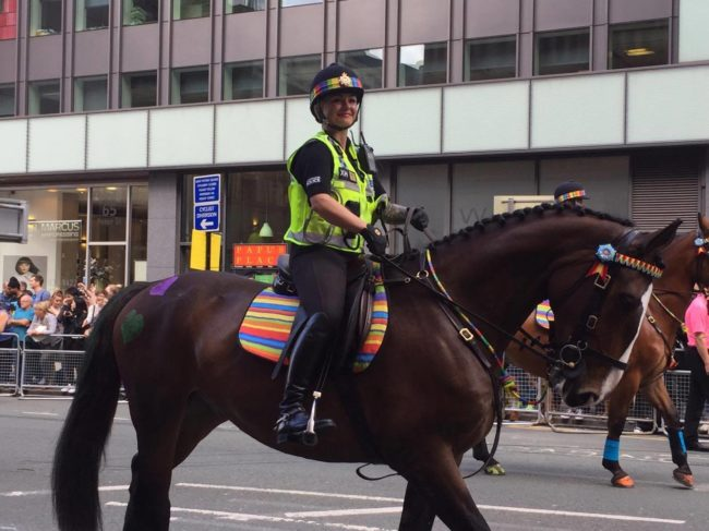 Police at Manchester Pride