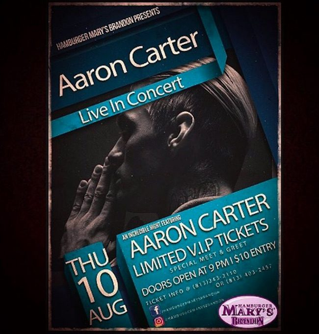 Aaron Carter party poster