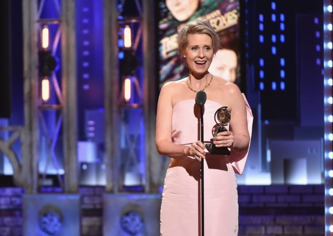 Cynthia Nixon at the Tony Awards