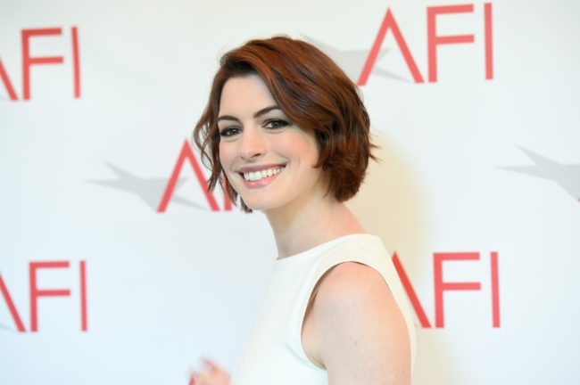 Anne Hathaway at an event, 2015