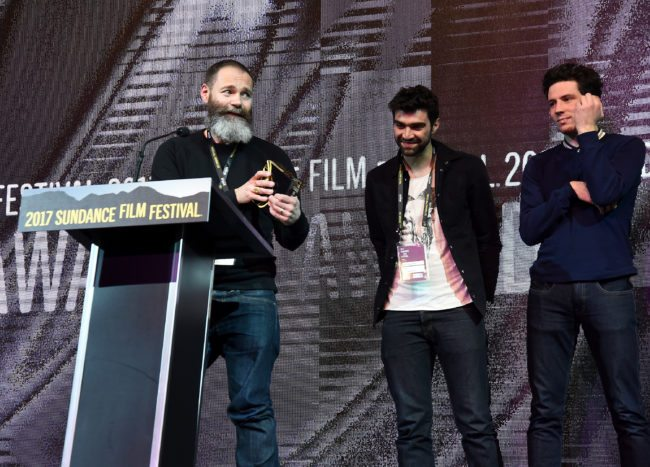 Francis Lee, Alec Secareanu and Josh O'Connor during Sundance 2017