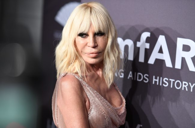 Donatella Versace attends the 19th annual amfAR New York Gala