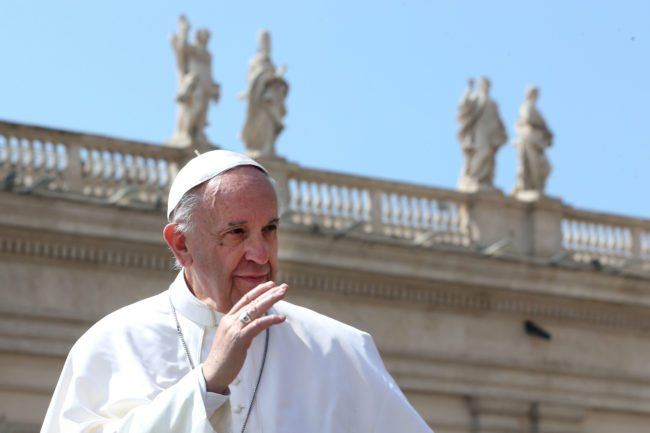 Pope Francis reaffirmed the Catholic Church's stance on equal marriage in 2016