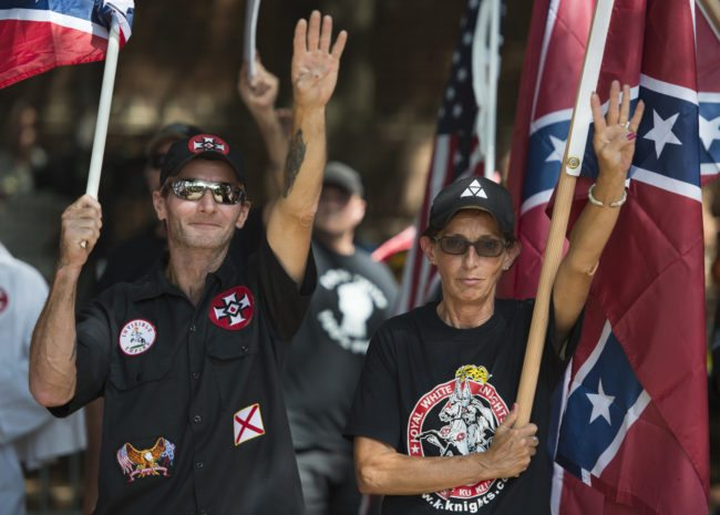 White supremacists in Charlottesville (ANDREW CABALLERO-REYNOLDS/AFP/Getty Images)