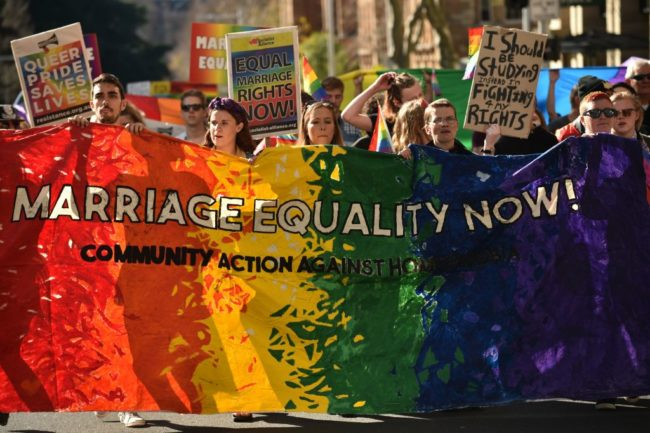 Postal vote on gay marriage triggers furore