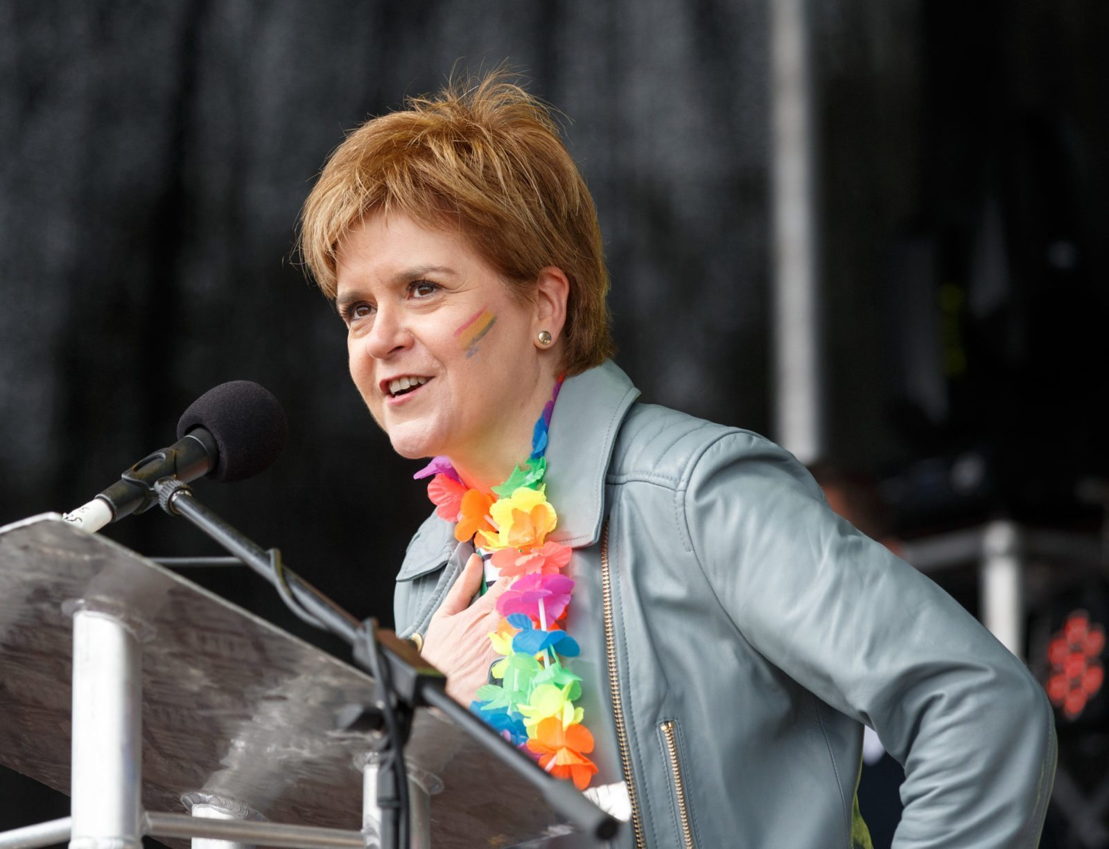 Scottish First Minister Nicola Sturgeon at Pride (Robert Perry/Getty Images)