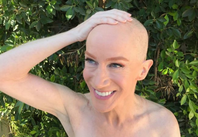 Kathy Griffin shaves her head (Twitter/Yashar)