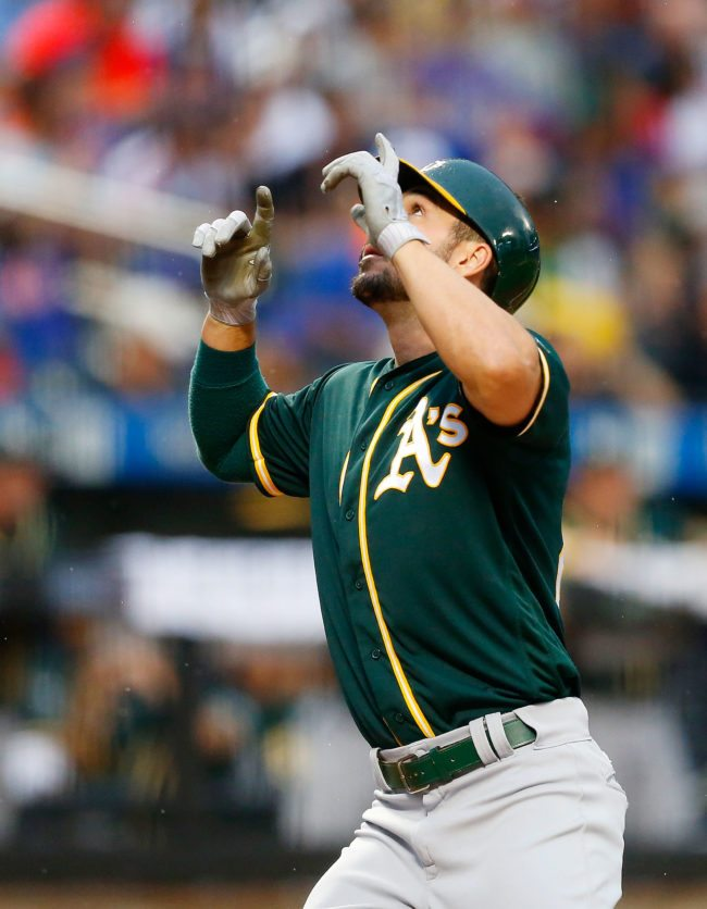 Oakland Athletics outfielder Matt Joyce hurls homophobic slur at fan