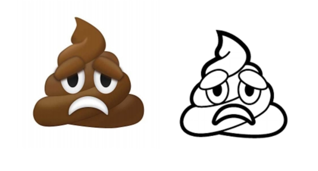 Sad poop emoji is in the mix for 2018 but there is no trans flag