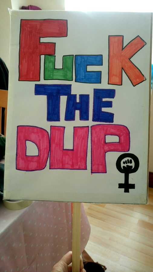 Eleanor's anti-DUP sign