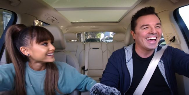 ariana grande and seth macfarlane carpool karaoke youtube