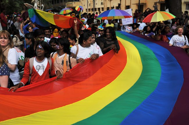 Indian gay rights activists at Bangalore gay pride 2009.