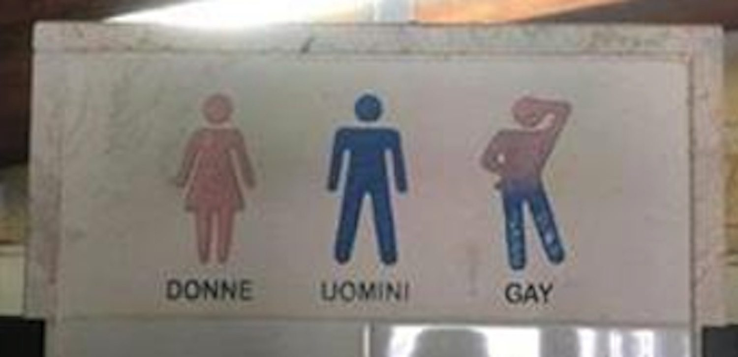 Public toilets are for gays