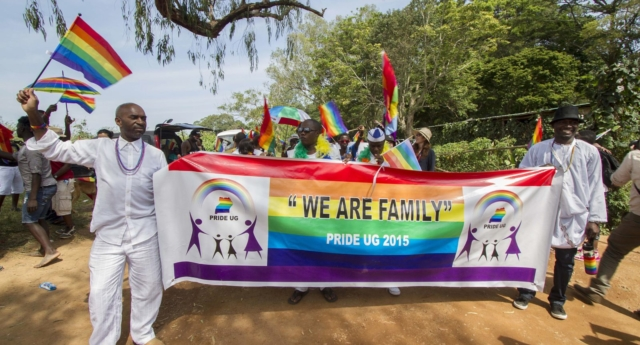 A 2015 Pride event in Uganda (Photo by ISAAC KASAMANI/AFP/Getty Images)