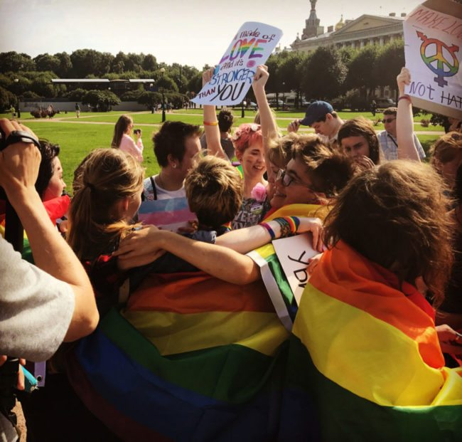 Russian LGBT Activists Detained In St. Petersburg